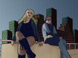 LongBeach_Dusk and Canary by MissKeith