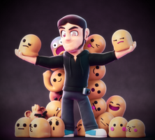 A Man of Many Emojis! by SmashingRenders