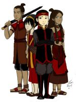Fire Nation Gaang colored by talita-rj