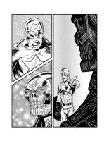 Cap vs Red Skull Page 01 by JamesLeeStone