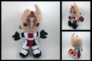 Mass Effect - Mordin Solus plushie by eitanya