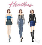 Gigi's Sketchbook: Winona (Part 1 - Heathers) by fashionfreedom