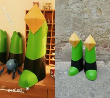 Done Peridot cosplay BOOTS by Gekroent
