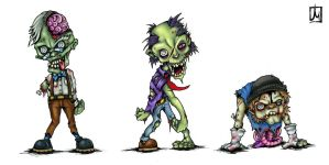more Zombies by melvindevoor