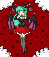 morrigan sexy loli by ninpeachlover