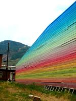 Rainbow Wall by zombieguy