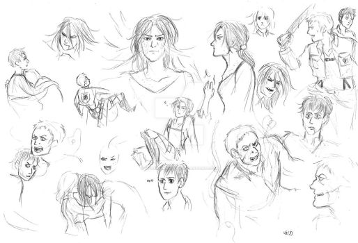 snk sketchdump... with spoilers? by sparklingblue
