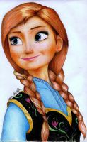 Princess ANNA From FROZEN by AmandaBloom