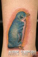 Blue penguin tattoo by ERASOTRON