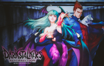Morrigan And Demitri Wallpaper by BriellaLove