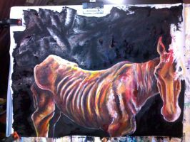 Skinny horse unfinished by tentsie