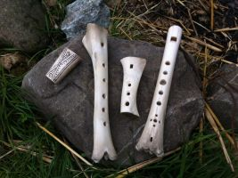 Bone flutes by Dewfooter