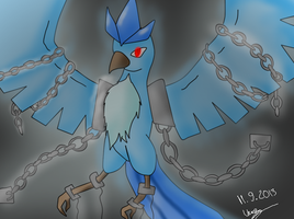 Chained Articuno by HeartEsart