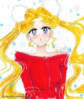 sailor moon Happy holidays, Merry Xmas to all by zelldinchit