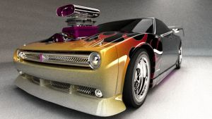 New Retro style muscle car by cwalls