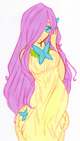 Human Fluttershy Soft Colours by LimboTheLost