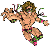 SKROOOOONK... (RIP Ultimate Warrior) by lapinbeau