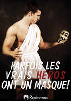 Les Heros ont un masque!  -IMPRESSION- by OpGraffiti