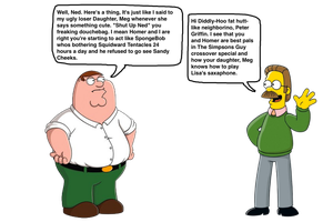 Peter Griffin Vs. Ned Flanders by darthraner83
