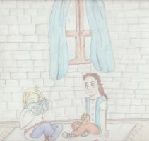 Little Arthas and Varian by moonlitowleyes