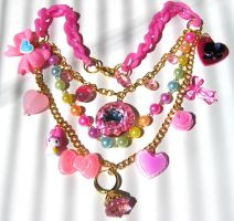 Princess Sugar Crunch necklace by pinkminx