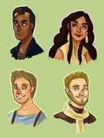 Characters from Atlas by Moth-Queen