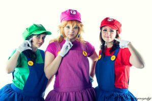 Super Mario Trio by Elsa-Cosplay