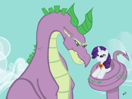 Spike and Rarity MLP by KonekoKisses