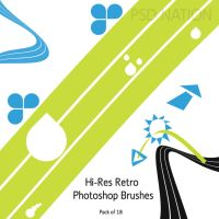 Simple, Hi-Re Retro PS Brushes by digitalrevolutions