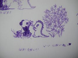 Dino and Panda Flower epi 2 by MelodicInterval