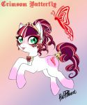 Pony design - Crimson Butterfly - 15$ by volvomdesigns