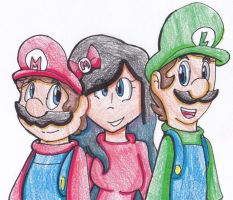Friend request [Reyna and the mario bros] by yoshiyoshi700