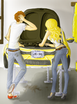 edward and rose and porsche by Curious-Kitten