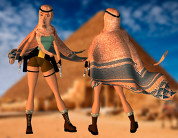 FMV Lara Egypt Outfits DL by ZayrCroft
