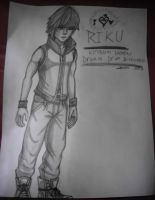 Riku Drawing - Kingdom Hearts Dream Drop Distance by TheCoolCosplayer22