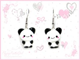 Panda Earrings by FlyingPandaGirl
