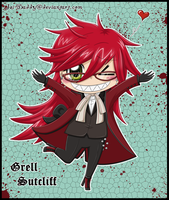 chibi Grell: Hug me by Isi-Daddy