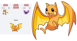 POKEMON FUSION 1: RAIBAT by shinyscyther