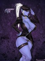 Syx in Black by Bluedemon13 by Scratchtastic
