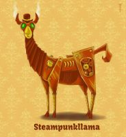 Daily Llama Project - Steampunkllama by TrollGirl