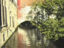 Canals in Bruges by Seqbre