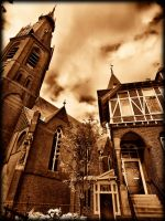 Church and house by pagan-live-style