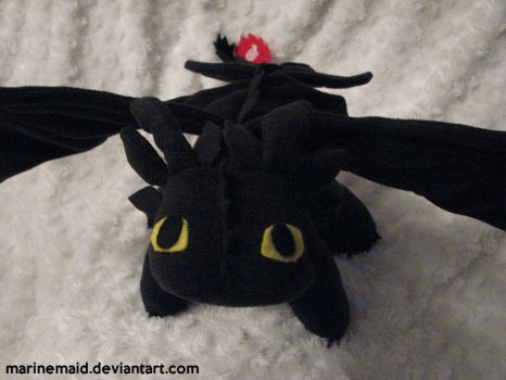 Toothless Plushie #1 by MarineMaid