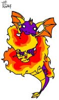 Spyro - flame wheel by TheKisame