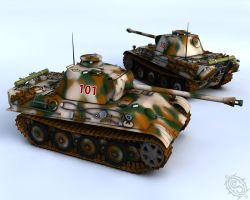 WW2 Tank Panther ausf G by Shadowcat1001