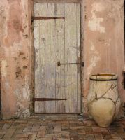 the door and the clay pot by newboxofcrayons