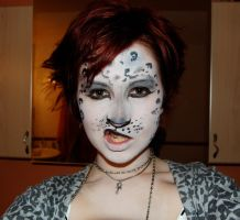 Snow Leopard Face Paint by Vampyeress