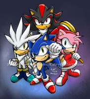 The Hedgehog Four! by SailorMoonAndSonicX