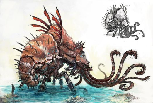 Water Colossus by evil-santa