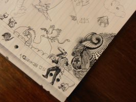 Library doodles by Hogia